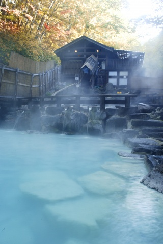 蔵王温泉大露天風呂(Large open-air bath at Zao Hot Springs (Zao Onsen))